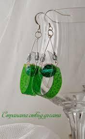 plastic bottle earrings recycled plastic bottle earrings green handmade