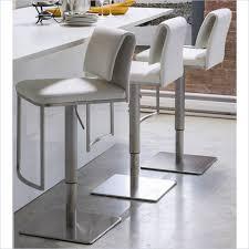 Adjustable Bar Stool With Back Gorgeous White Leather Bar Stools With Backs Leather Stools With