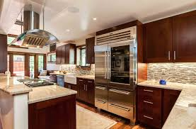 How To Clean Cherry Kitchen Cabinets Transitional Cherry Kitchen In Cherry Creek