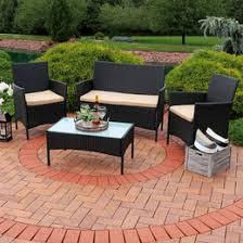 Patio Table Ls Sunnydaze Anadia 4 Lounger Patio Furniture Set With Black