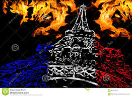 pray for paris stock illustration image 62419075