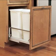 kitchen trash cabinet pull out rev a shelf double trash pullout 50 quart white 5349 2150dm 2 39
