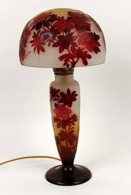 floral table lamp by galle emile art glass valerio art deco