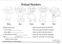 free worksheets ordinal numbers worksheet ks1 free math