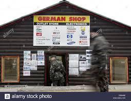 german bundswehr soldiers enter the so calkled german shop of