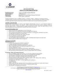 Job Responsibilities Resume by Download Unix System Administration Sample Resume