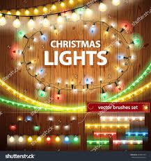 lights decorations set celebratory design stock vector