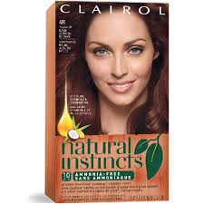 clairol nice n easy natural light auburn permanent red hair color clairol