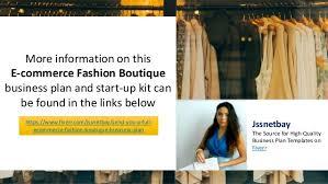 e commerce online fashion boutique business plan template