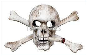 photo of skull and cross bones