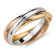 colored metal rings images Classic trinity tri color rolling ring cartier inspired jpg