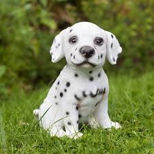 pluto perdi the realistic dalmatian puppy polyresin garden