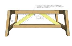 Woodworking Plans For Coffee Table by Ana White Truss Coffee Table Diy Projects
