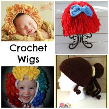 halloween costume wigs 9 crochet wigs for halloween u0026 dress up costumes