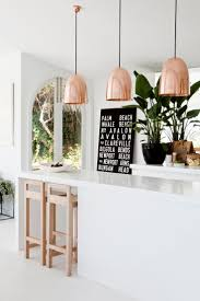 Pendant Lights Kitchen Over Island by Kitchen Lighting Copper Pendant Light Cone Brass Coastal Crystal