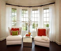 Curtains For Bay Window Wonderful Window Treatment Decorating Ideas Curtains Curtains On