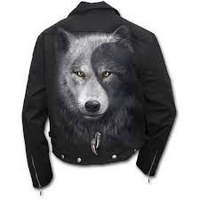 biker jacket sale mens wolf chi lined biker jacket black shop online from spiral