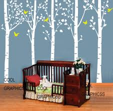 five large birch tree 98 inches vinyl wall decal sticker