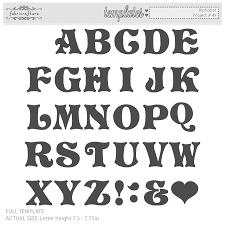printable alphabet stencils alphabet letter templates gabarits pinterest alphabet letter