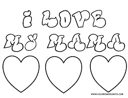 valentine for mom coloring pages for kids funny coloring
