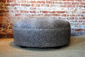 handmade large leopard ottoman coffee table by martha and ash