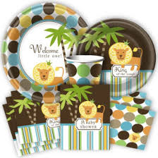 amusing jungle baby shower plates 24 with additional baby shower