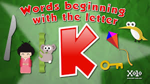 words that start with the letter k in english learn videos youtube