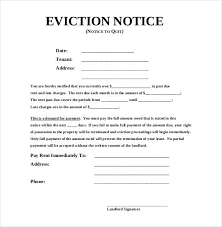 19 sample eviction notice templates free samples examples