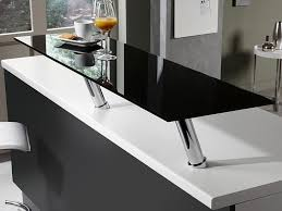 plan de travail cuisine verre plan de travail noir design en verre photo 4 20 un beau très