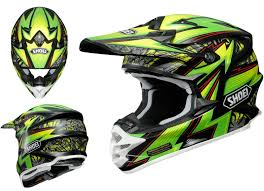 shoei helmets motocross shoei vfx w motocross mx helmet maelstrom tc 4 green black