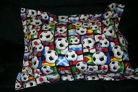 Soccer Comforter Soccer Bedding Full Size Pillow Sham With Flange