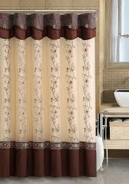 Chocolate Brown Shower Curtain Elegant Brown Color Shower Curtains Ideas For Bathroom Best