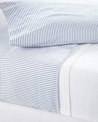 ticking stripe sheet set serena lily navy blue bedding shts