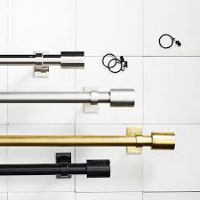 Antique Brass Curtain Rods Oversized Adjustable Metal Rod West Elm