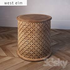 carved wood coffee table 3d models table west elm carved wood side table