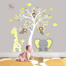 Jungle Nursery Wall Decor Bedroom Decoration Baby Boy Nursery Wall Ideas Baby