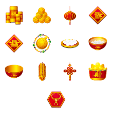 Happy New Year Decorations 4 Designer Happy New Year Of The Ox Png Icon 128x128px