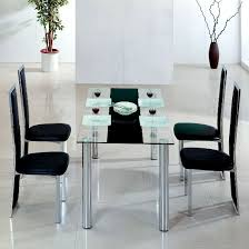 Modren Glass Table Dining Room Kitchen Great And Chairs S With - Dining room table glass