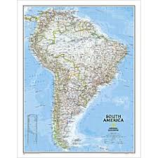 south america map buy continent maps shop mural world maps national geographic store