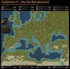 Map Of Renaissance Europe by Civilization 5 Scenario Into The Renaissance Map