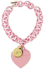 pink heart bracelet images Ops objects bracelet rosa with yellowgold opsbr 13 1800 plated jpg