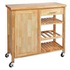 bamboo wood 1 door 1 drawer rolling kitchen island christmas