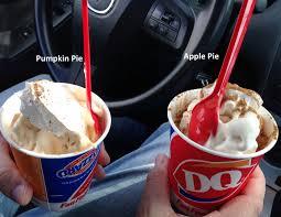 dairy queen thanksgiving dairy queen apple pie vs pumpkin pie blizzard youtube