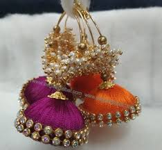 fancy jhumka earrings fancy silk thread jhumka silk threaded bangles and earrings