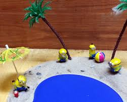 Minion Desk Accessories by Diy Cute Minion Beach Party Mouse Pad Youtube