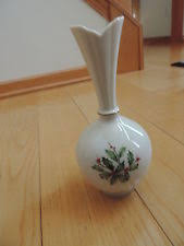Lenox Christmas Vase Christmas Vase Holly Berry Ebay