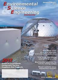 environmental science u0026 engineering magazine january february 2013
