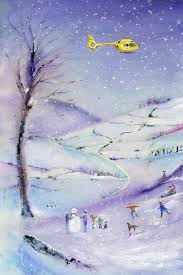 yorkshire air ambulance christmas cards by anita bowerman