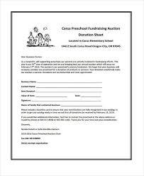 fundraising sheet template donation sheet template 4 free pdf