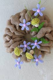 How To Make A Spring Wreath by Diy Burlap Spring Wreath The Wreath Depot
